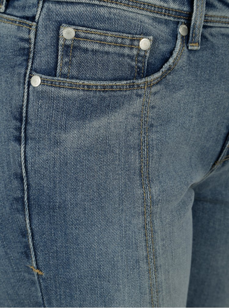 Modré slim džíny s prošívanými detaily Blendshe Bright Gemini