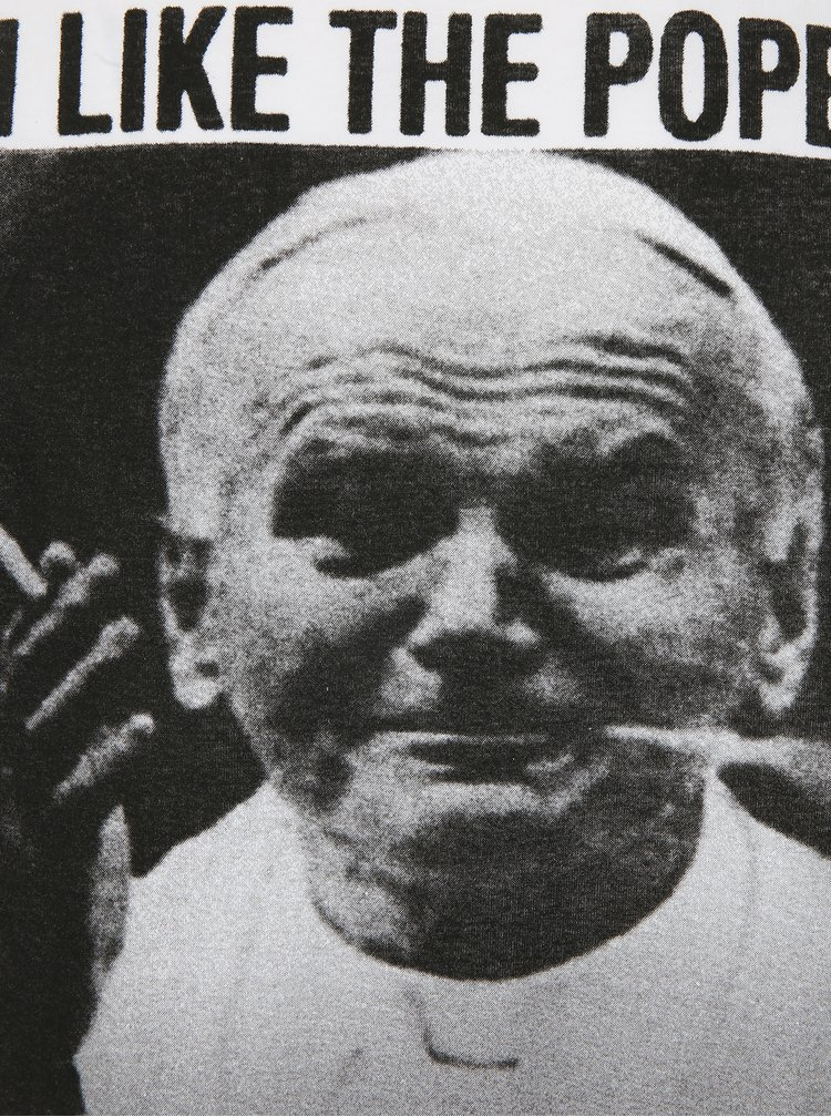 Bílé tričko s potiskem Dedicated Dope Pope