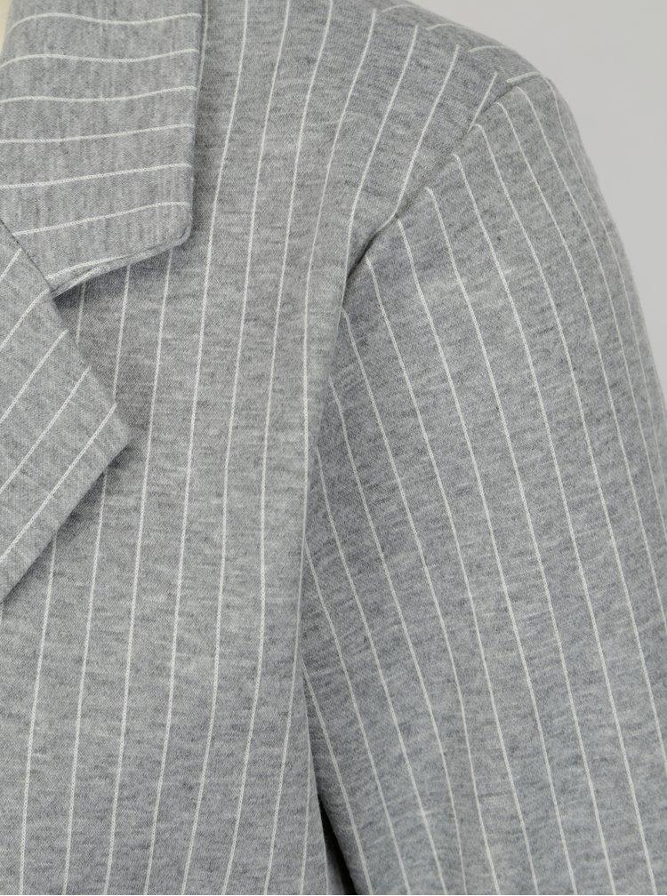 Sivé melírované pruhované sako Blendshe Liza