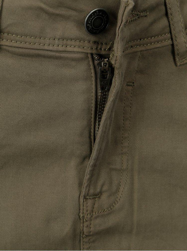 Khaki pouzdrová sukně s rozparkem Blendshe Ahana