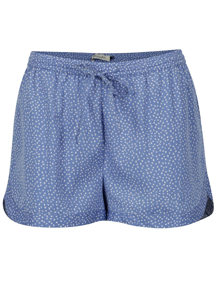 Pantaloni scurti bleu cu print marunt Blendshe Mally