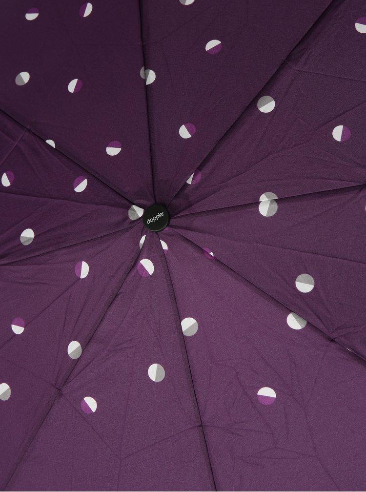 Fialový dámský skládací vzorovaný deštník Doppler