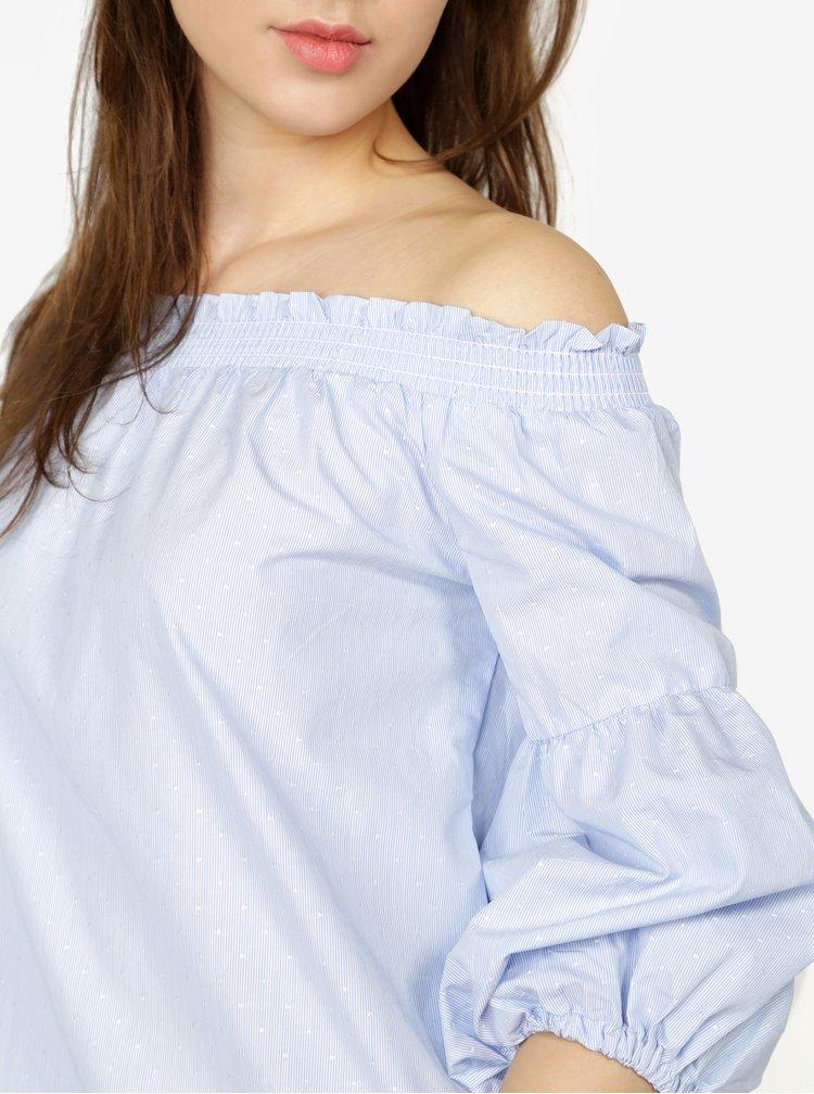 Modrá blúzka s odhalenými ramenami ONLY New Iris
