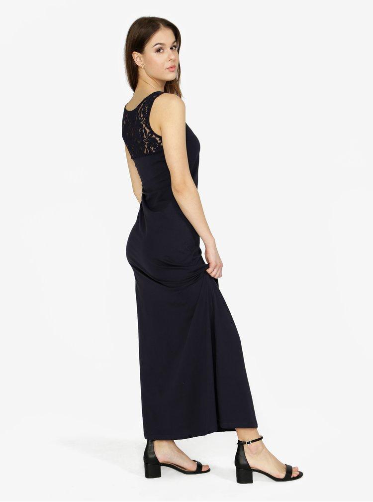 Rochie maxi bleumarin cu dantela pe spate - ONLY Abbie