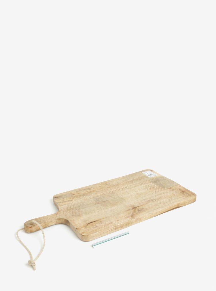 Béžové dřevěné prkénko Kaemingk