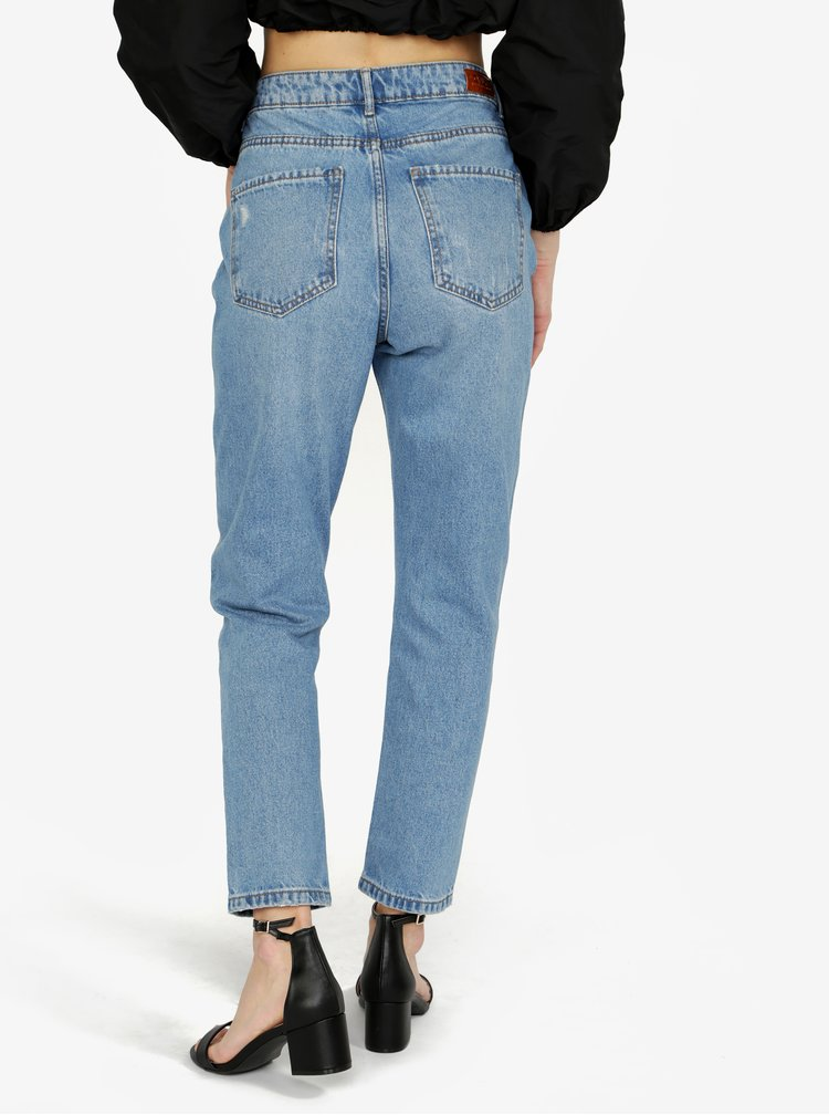 Modré mom džíny s vysokým pasem ONLY Kelly