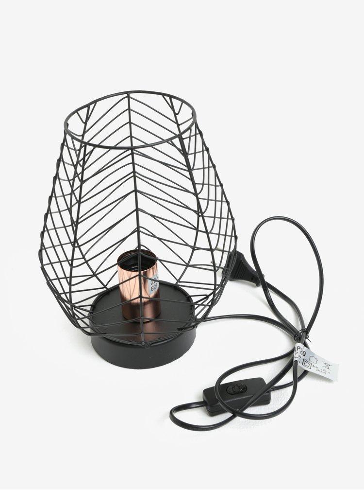 Černá stolní lampa Kaemingk