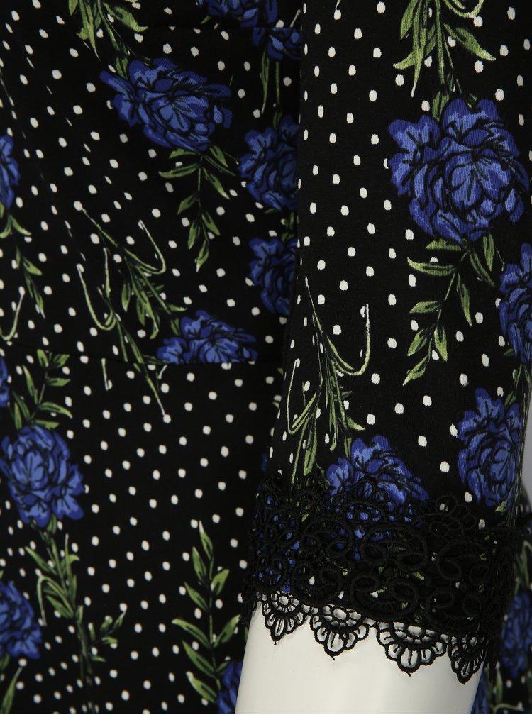 Černé vzorované šaty Dorothy Perkins Curve