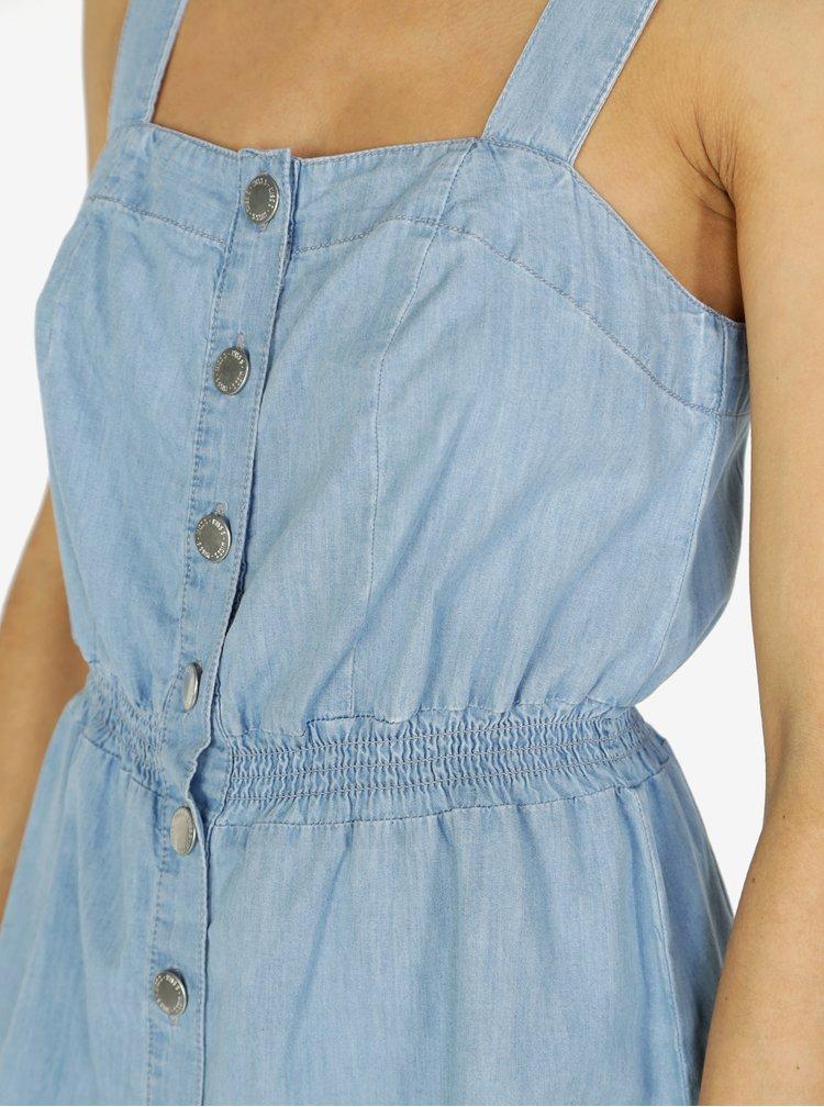 Modré džínové šaty s knoflíky Miss Selfridge