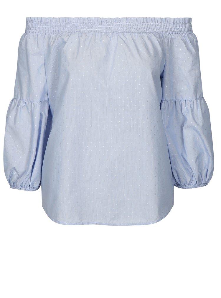 Modrá halenka s odhalenými rameny ONLY New Iris