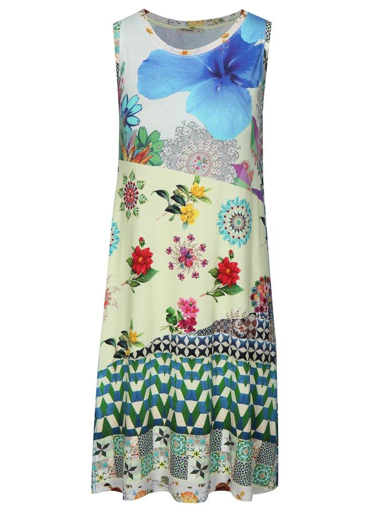 Rochie verde&albastru cu print - Desigual Malena