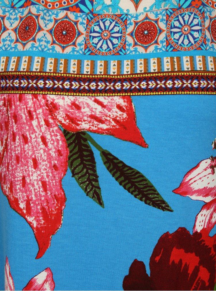 Modré květované šaty Desigual Dario