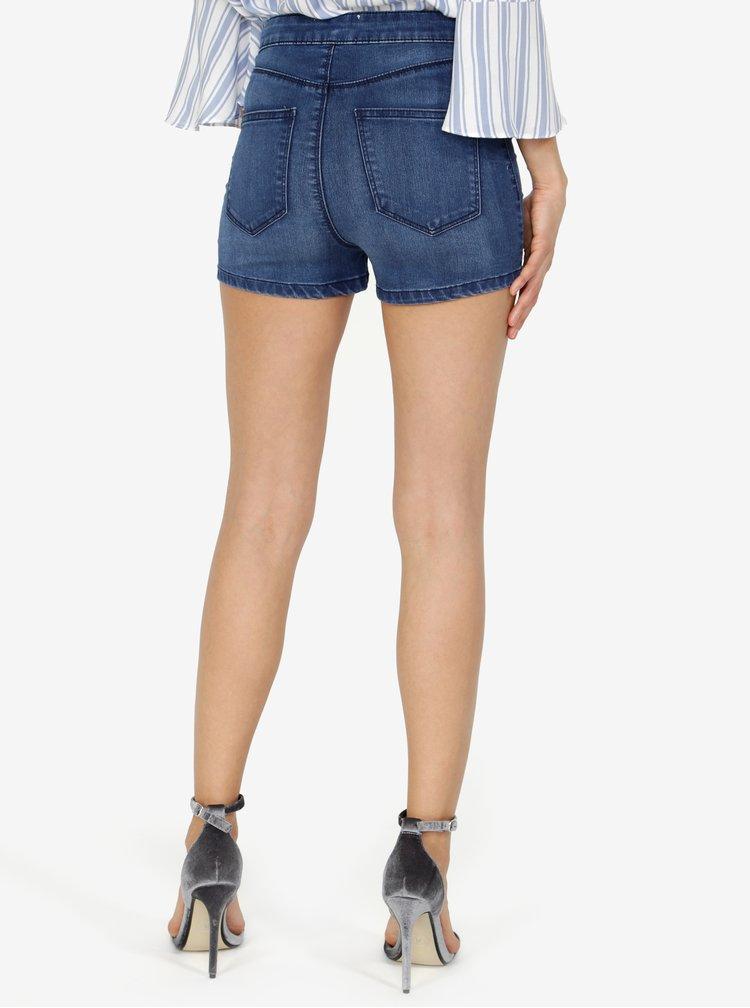 Pantaloni scurti din denim albastri cu talie inalta - Miss Selfridge
