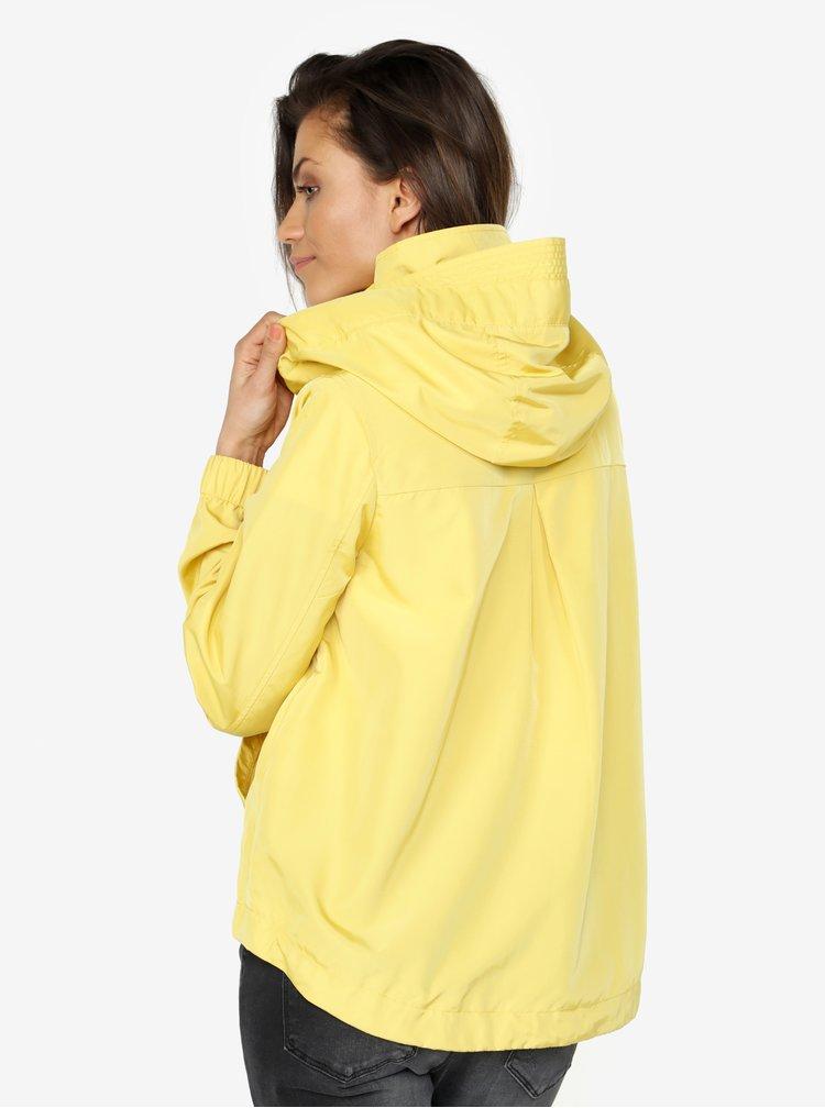Žlutá oversize bunda s kapucí VERO MODA Classy