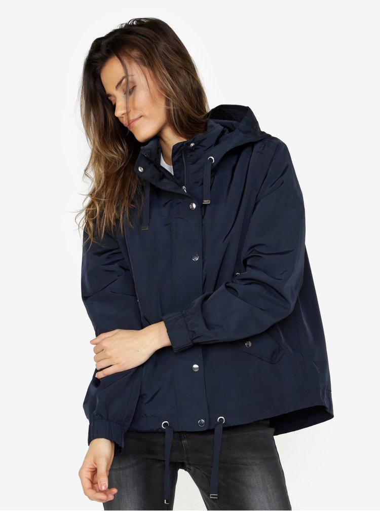 Tmavě modrá oversize bunda s kapucí VERO MODA Classy