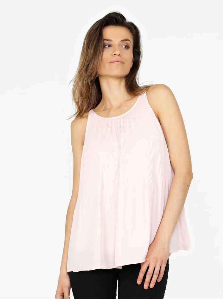 Světle růžová oversize plisovaná halenka VERO MODA Mamanda