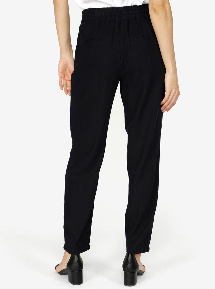 Pantaloni lejeri bleumarin cu talie elastica  VERO MODA Masta Milo