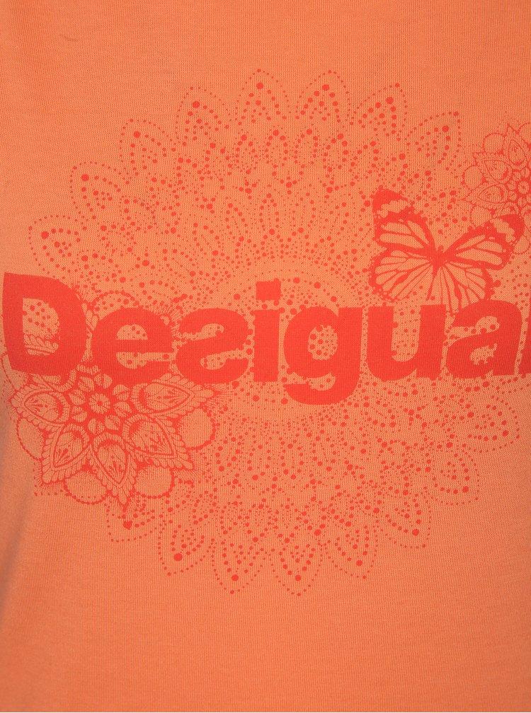 Oranžové tílko s potiskem Desigual Sport