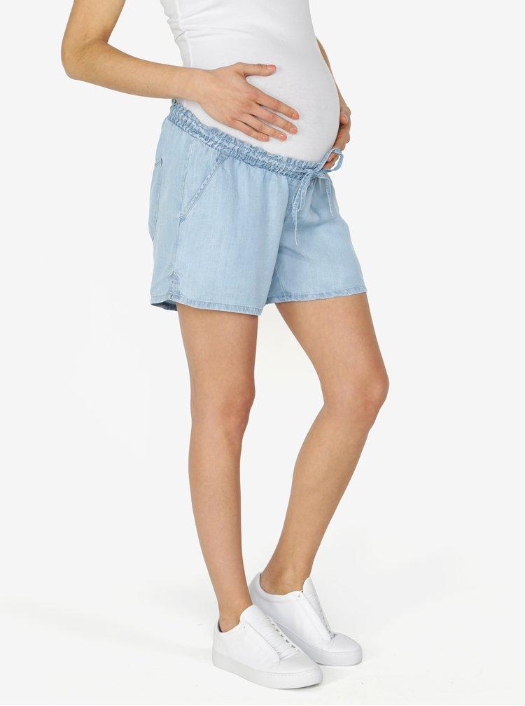 Světle modré těhotenské kraťasy s nízkým pasem Mama.licious Nesli