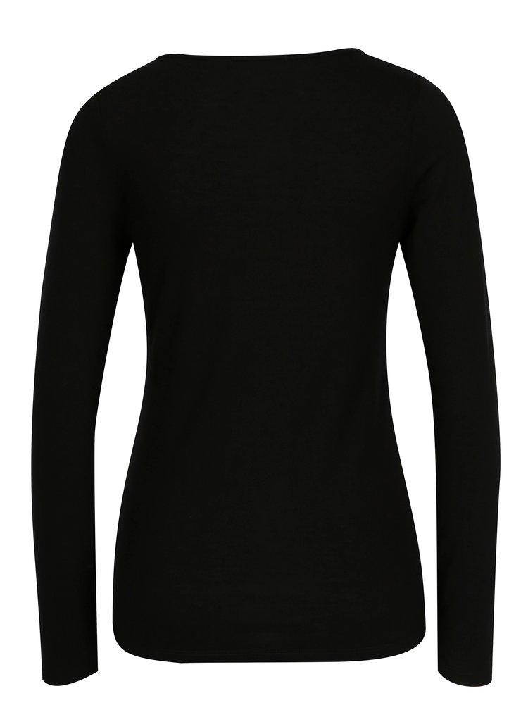 Černé tričko s dlouhým rukávem Haily´s Greta