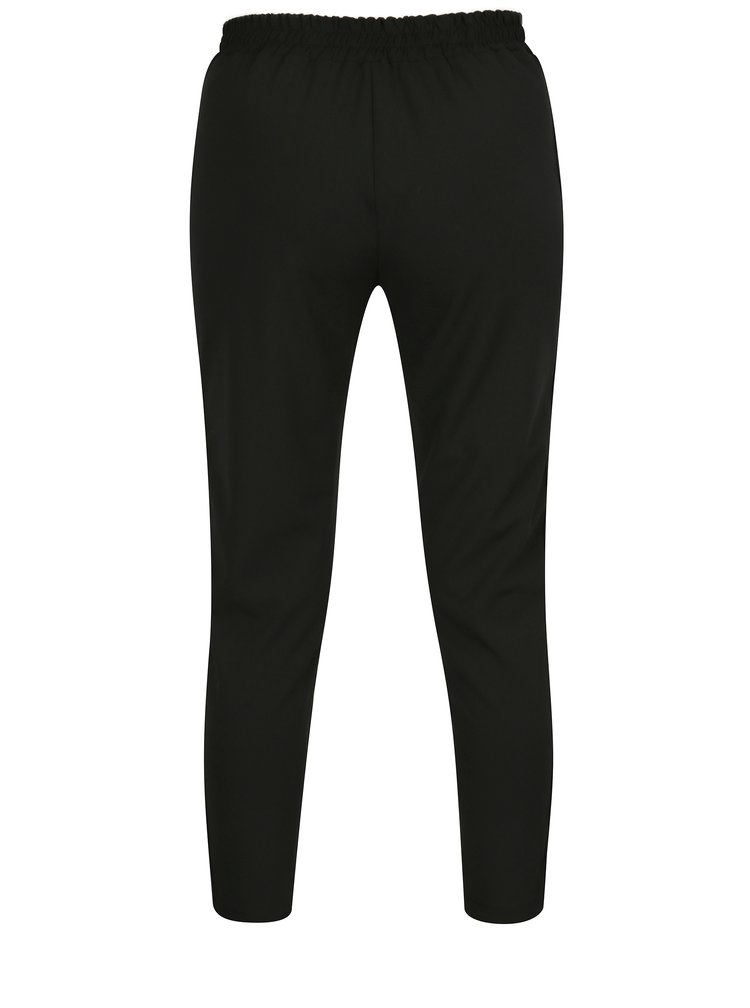 Pantaloni negri conici cu siret in talie  Haily´s Greta