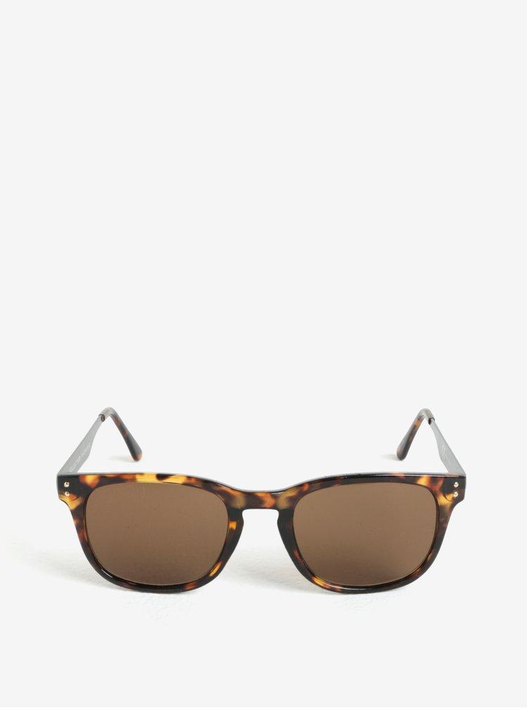 Hnědo-černé sluneční brýle Selected Homme Steven