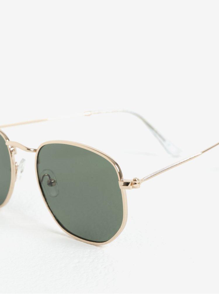 Sluneční brýle s obroučky ve zlaté barvě Selected Homme Steven