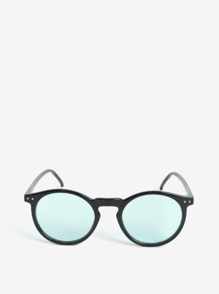 Černé kulaté sluneční brýle Selected Homme Sunday