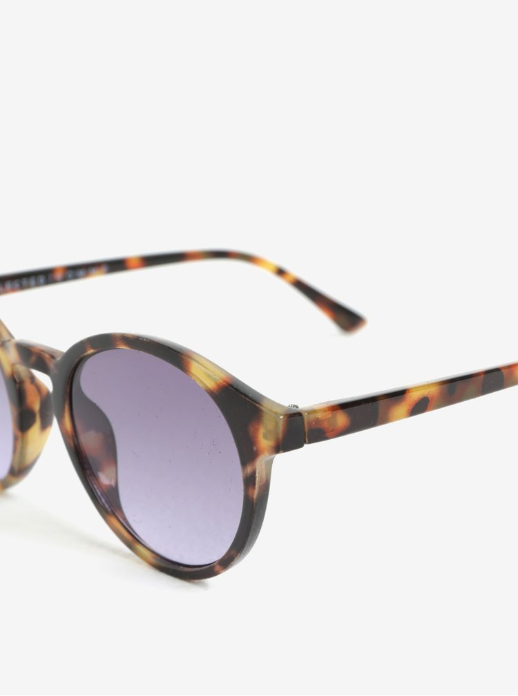 Béžovo-černé kulaté sluneční brýle Selected Homme Steven