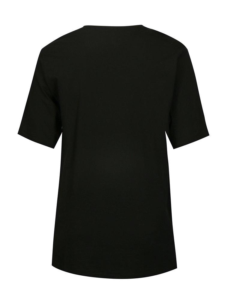 Černé basic tričko s krátkým rukávem Ulla Popken