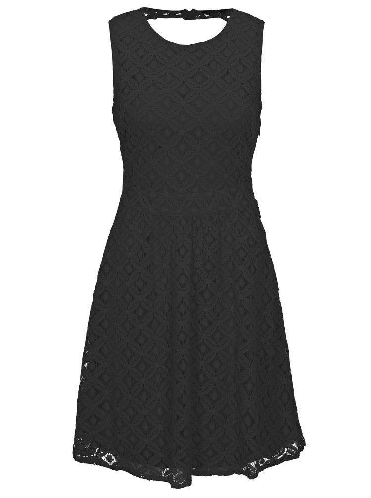 Černé krajkové šaty VERO MODA Simone