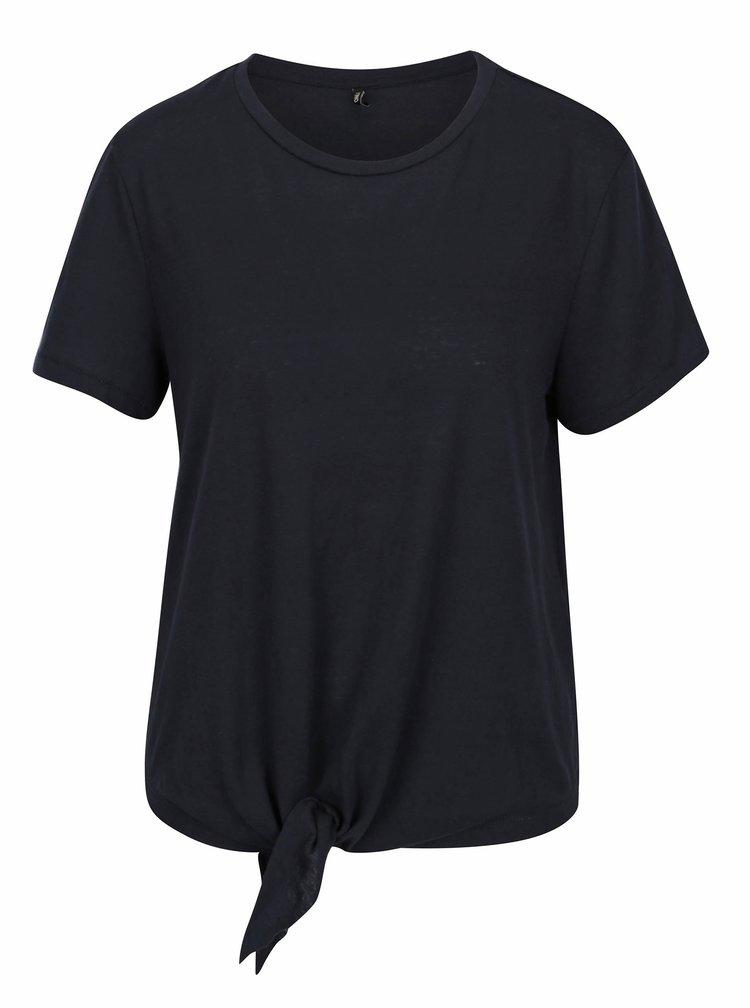 Tmavě modré tričko s uzlem ONLY Uma