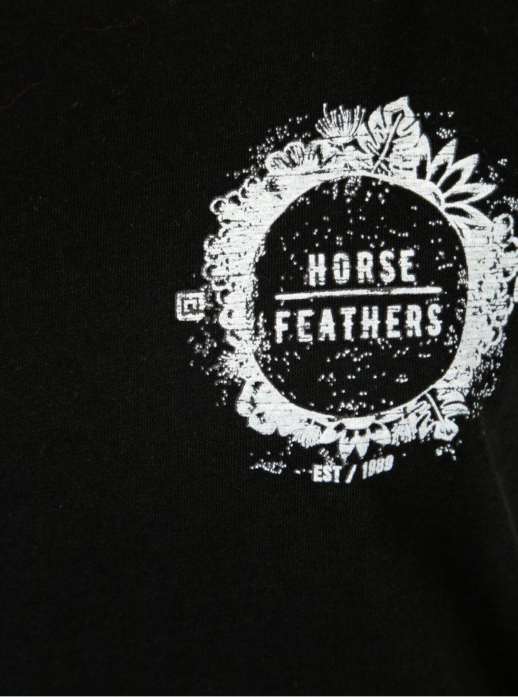 Černé dámské tričko s potiskem Horsefeathers Betsy