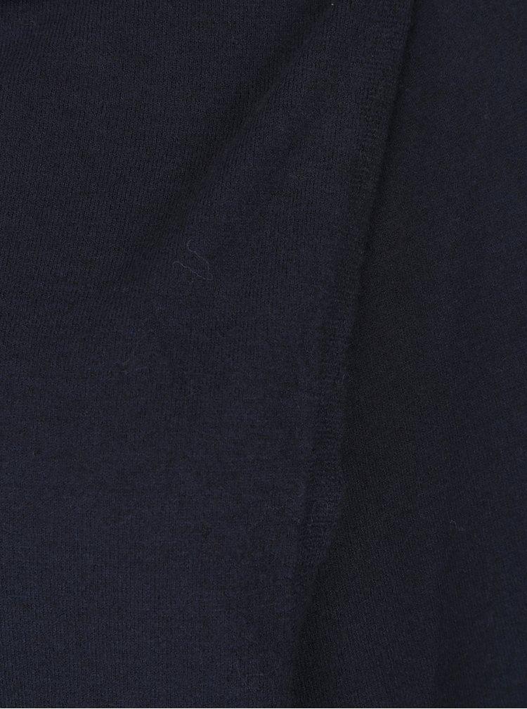 Tmavě modrý kardigan s asymetrickým zapínáním VERO MODA Karis