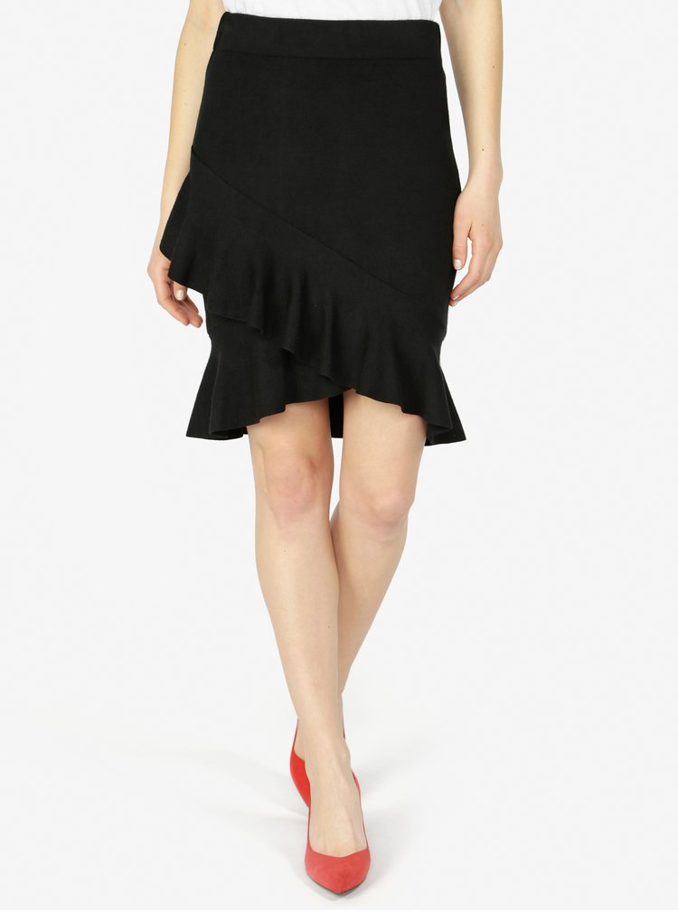Černá sukně s volánem VERO MODA Mya