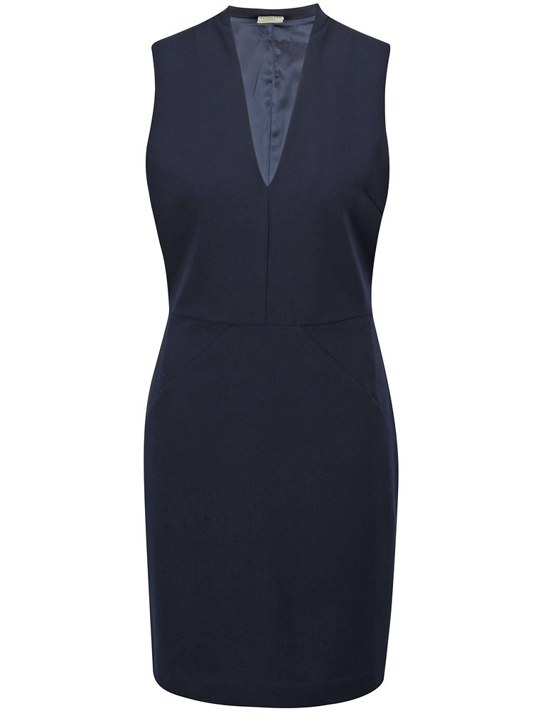 Tmavě modré šaty Selected Femme Adelyn