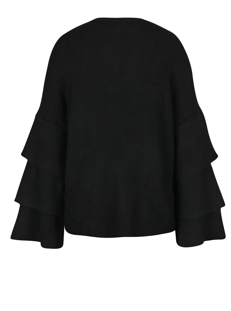 Černý svetr s volány ONLY Flower