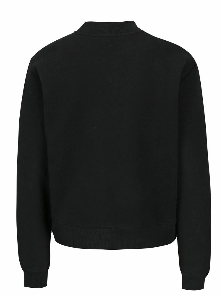 Černá dámská mikina s výšivkou Calvin Klein Jeans Hazel