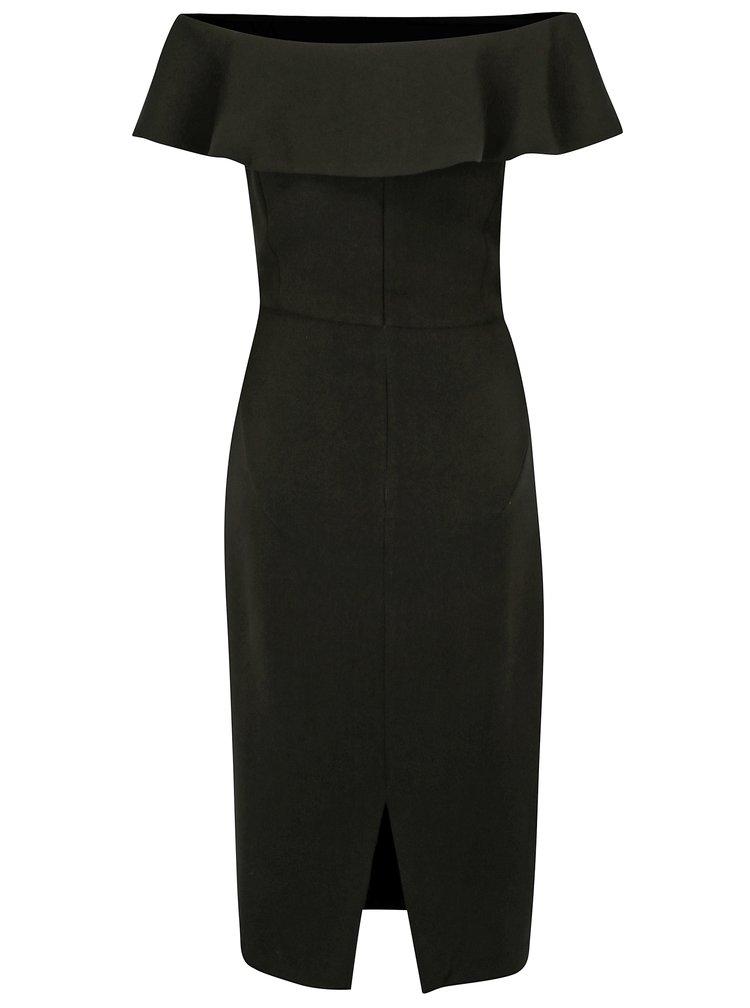 Černé šaty s odhalenými rameny Desigual Marina