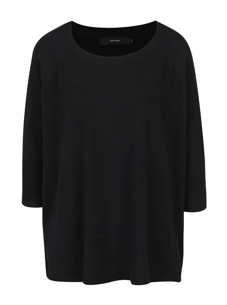 Černý svetr s 3/4 rukávy VERO MODA Karis