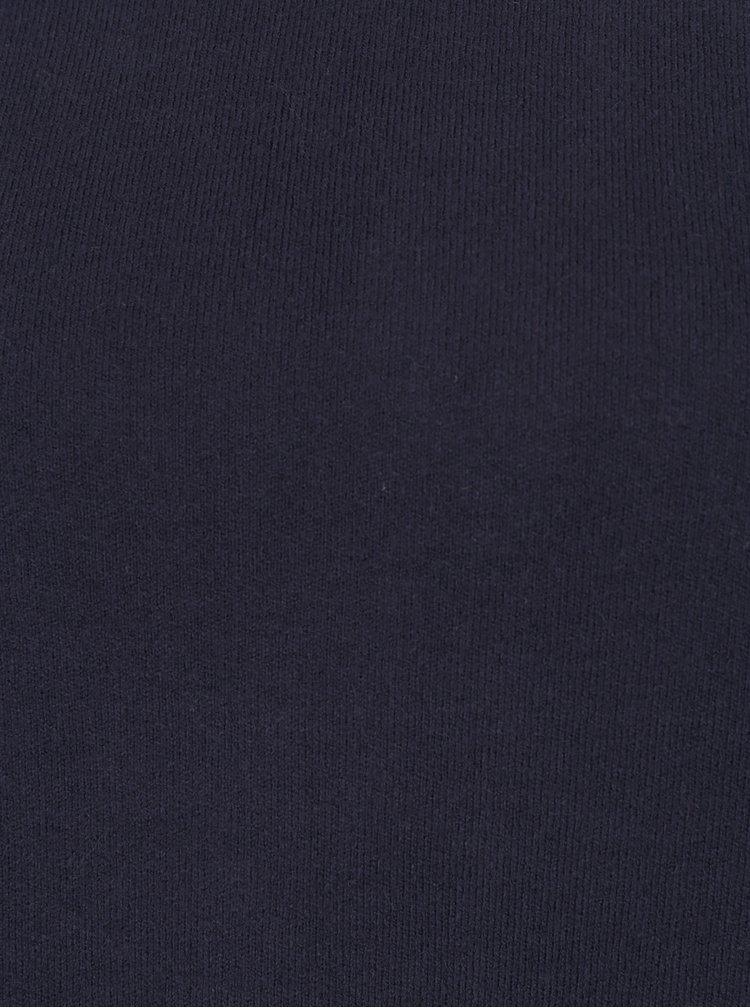 Tmavomodrý sveter s mašľou na chrbte VILA Olivina
