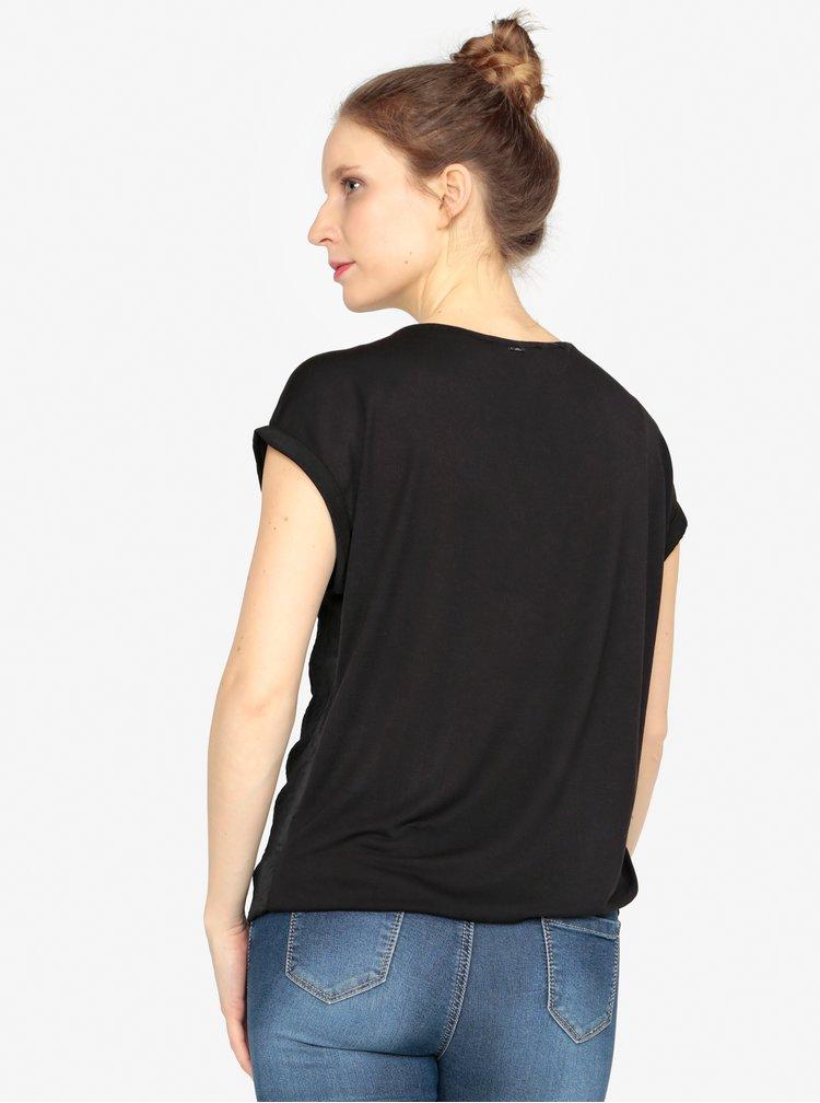 Bluza neagra cu decolteu rotund - s.Oliver