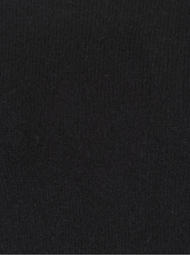 Černý svetr s volány na rukávech TALLY WEiJL