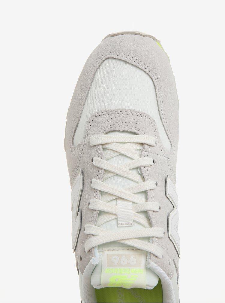 Šedo-žluté dámské semišové tenisky New Balance