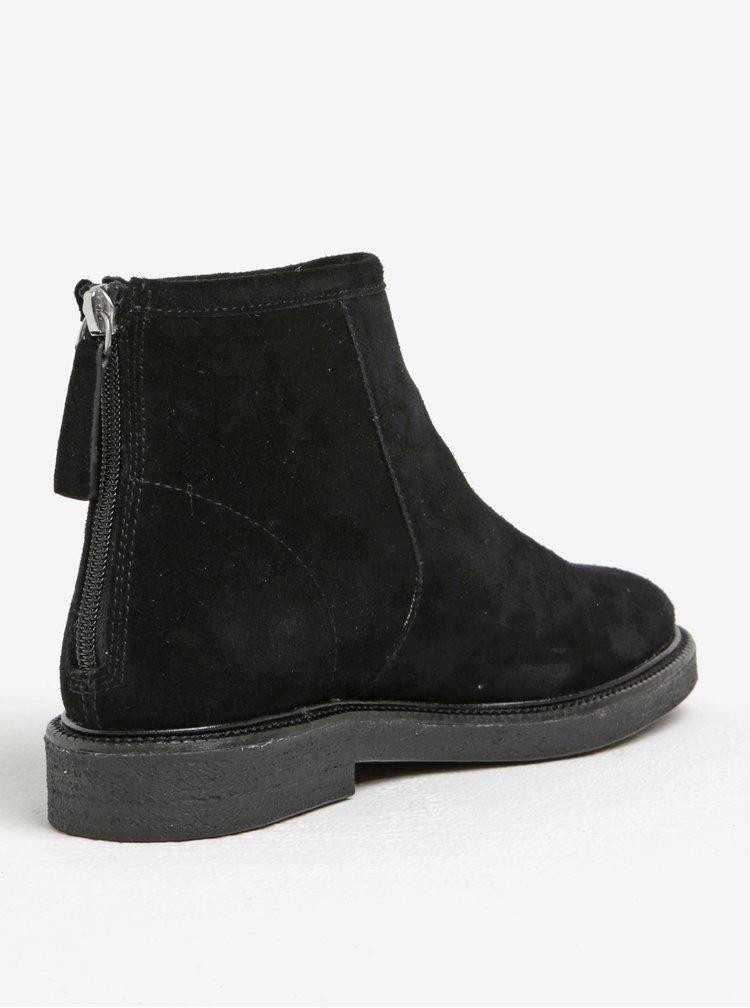 Černé dámské semišové kotníkové boty Vagabond Christy