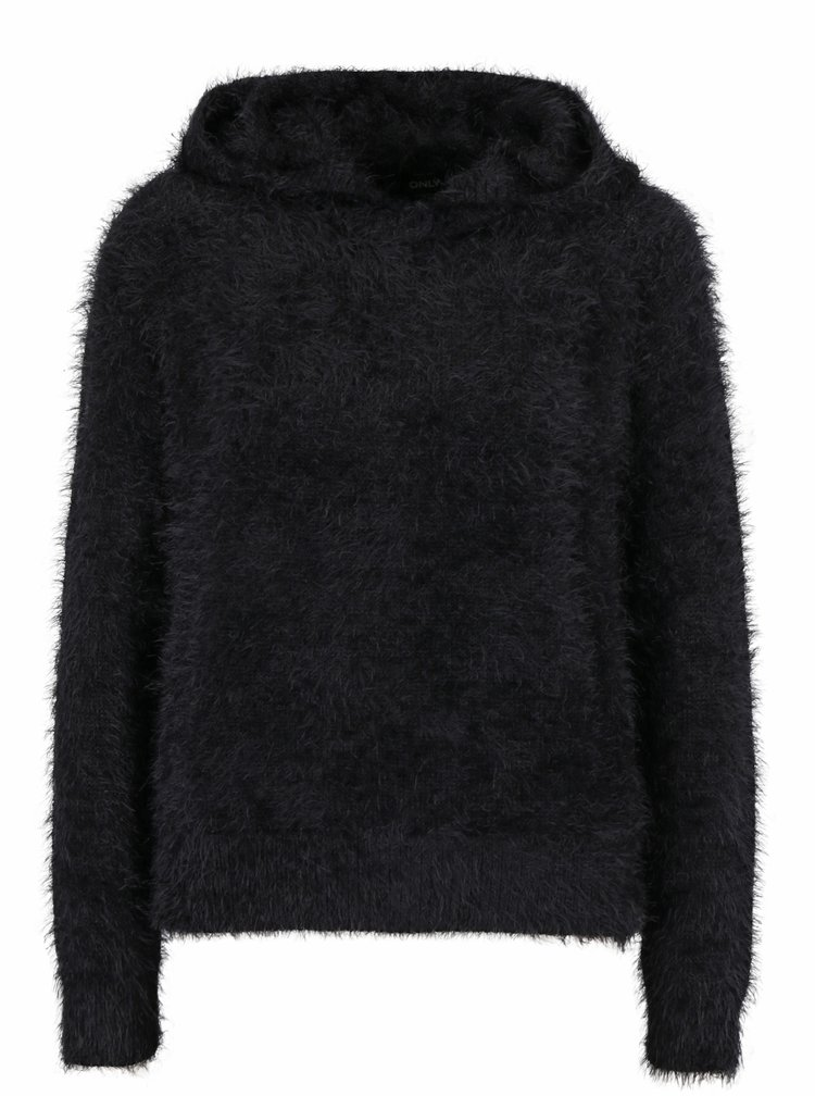 Černý svetr s kapucí ONLY Gaia