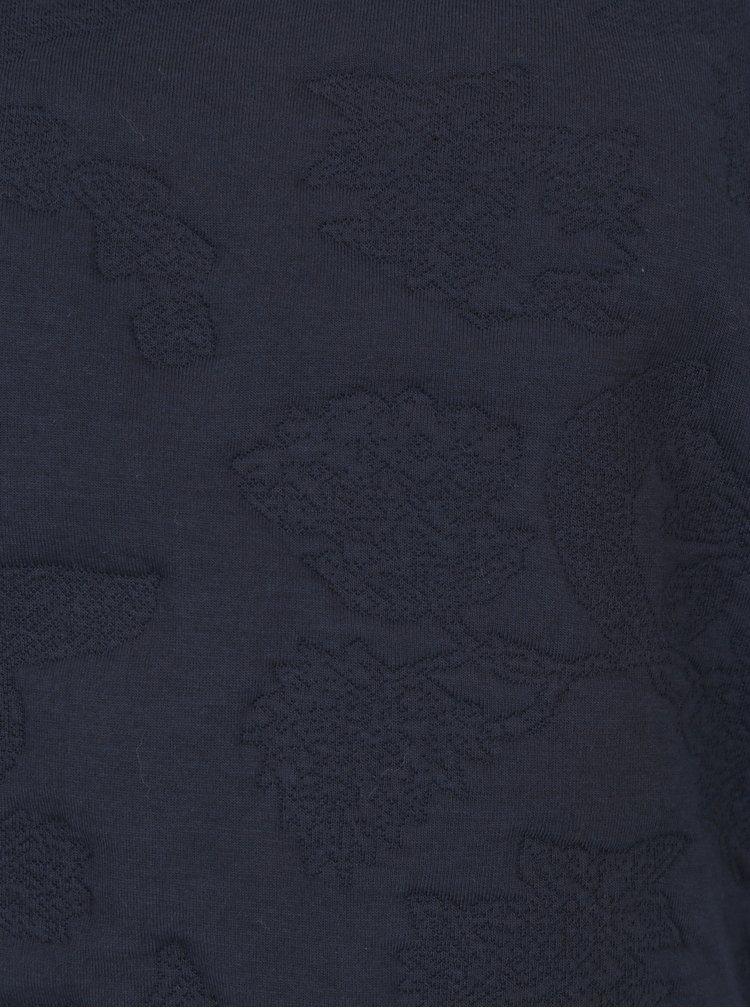 Tmavě modrá mikina s plastickým vzorem ONLY Enna