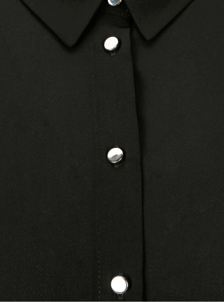 Camasa neagra cu capse Dorothy Perkins