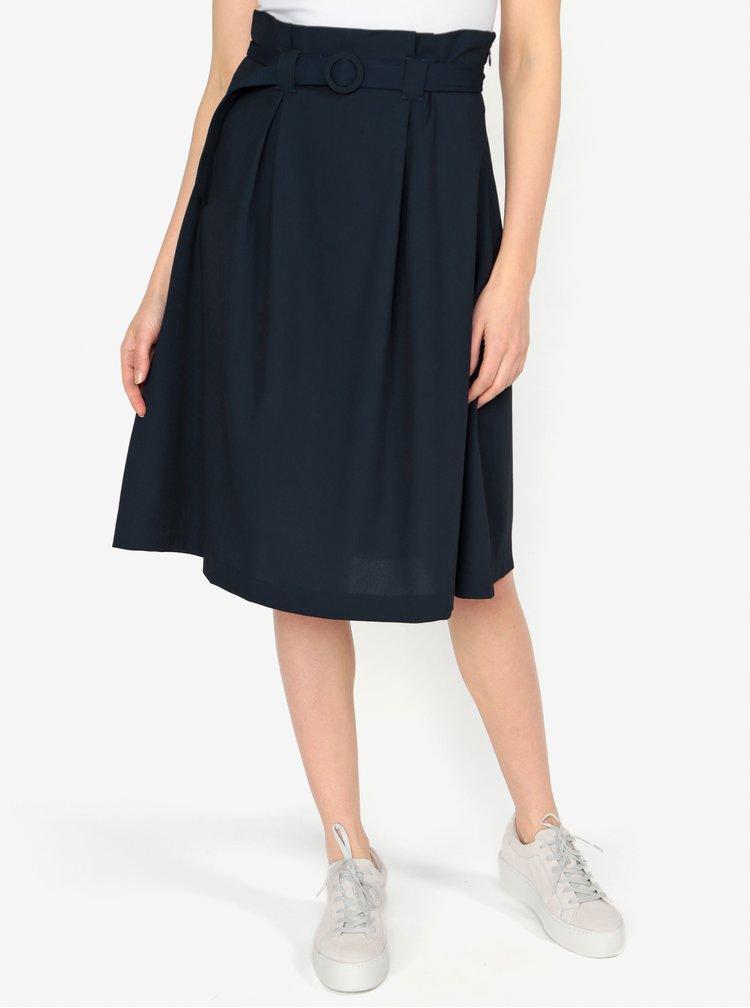 Tmavě modrá áčková sukně s páskem VERO MODA Emmy