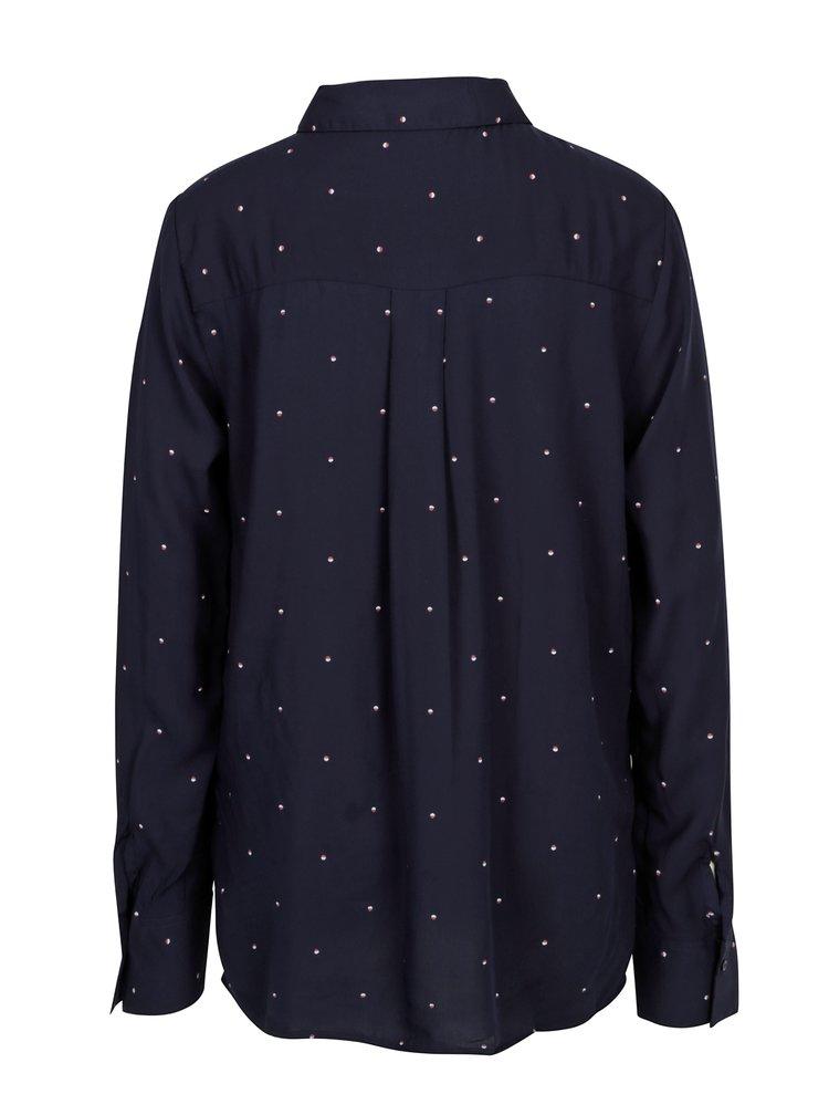 Tmavě modrá vzorovaná dámská košile Broadway Ailien